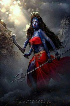 Said to b Ma Kali ! in awesome angry look Maa Kali Images, Durga Images, Kali Hindu, Durga Maa, Kali Goddess, Indian Goddess, Mahakal Shiva, Krishna, Rudra Shiva