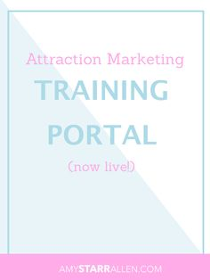 My New Attraction Marketing Portal is Available!  I'm excited to let you know that my new Attraction Marketing Training Portal is now available! This site was created for a couple of reasons. I had several requests from my leads that I reached out to over the phone to be able to access all of the training that I recommend specifically for people who are looking for a system to help them build ANY business on the internet, all under one roof. MLSP recently launched their new blogging platform
