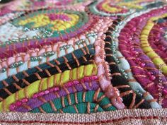 Master-class product Embroidery crafts embroidery b \ y t-shirts Yarn Fabric Beads Canvas Photo 5 Textiles, Hand Embroidery, Embroidery Designs, History Of Quilting, Rugs And Mats, Diy Crafts Jewelry, Braided Rugs, Simple Shirts, Old T Shirts