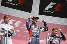 2014 Canadian GP podium: Daniel Ricciardo, Nico Rosberg, Sebastian Vettel