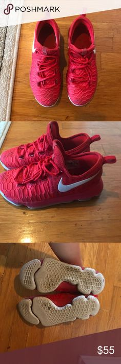 Red NIKE SNEAKERS !! Beautiful Nike sneakers . SO COMFORTABLE !! so cute . And very red💋❤️❤️❤️❤️❤️ good condition. Soles are good. No rips or holes . Nike Shoes Sneakers