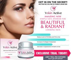 Vskin Active  Snake Venom Peptide Cream is the best anti-aging solution that was specially  designed to help you reduce the appearance of wrinkles, dark spot, saggy, cracked, lousy skin and fine lines, making your dermal matrix healthy and younger #Beauty  #Aging #Skin