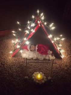 Excellent Cost-Free Elf on the Shelf Christmas Camp Out Elf ., Excellent Cost-Free Elf on the Shelf Christmas Camp Out Elf . Merry Christmas, All Things Christmas, Christmas Holidays, Christmas Lights, Elf On The Self, The Elf, Elf Christmas Decorations, Christmas Crafts, Christmas Ornaments