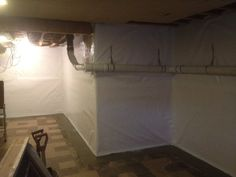 Cleanspace Wall Vapor Barrier To Stop Moisture Through The Walls In The  Basement. @Basement