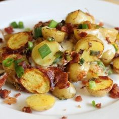 Little potatoes with Mozzarella Cheese and Bacon.