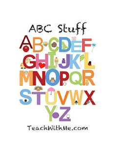 ABC Easy Reader Booklet and Stuff