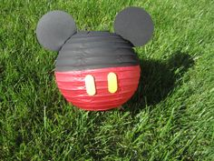 Mickey Mouse Inspired Red Paper Lantern Decoration by adingkaki