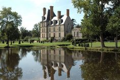 The Château de la Guignardière is a 16th-century château located outside Avrillé, in the Vendée department, western France. It was begun in 1555, but was never completed. The building and park are open to the public.