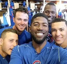 Kris Bryant, Anthony Rizzo, Starlin Castro, Dexter Fowler and Addison Russell