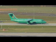 (With live ATC) Aviro Air Jumbolino taxiing and take off with Steaua Bukarest on board at ZRH British Aerospace, Atc, Plane, Aviation, Aircraft, Board, Youtube, Bucharest, Airplane