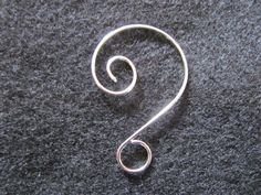 """2"""" Silver Plated Fancy Swirl Wire Hanging Hook, Ornamental Hook, Ornament Hanger, Suncatcher Hook. 73p from FoxysCrystals"""
