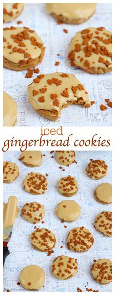 Soft gingerbread cookies with a touch of molasses and the wonderful flavors of ground ginger and cloves covered in a brown sugar molasses icing and gingerbread men sprinkles