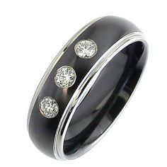 COI Tungsten Carbide Ring With Black Plating - TG3243
