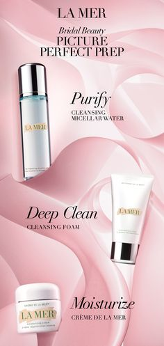 Now is the occasion to commit to a cleansing and moisturizing regimen that will give you the luminous look you want as you make your way to the alter. Consider adopting La Mer's double-cleanse technique: First, detoxify, purify and sweep away makeup with our modern marvel, Cleansing Micellar Water. Then, deep clean with our Cleansing Foam to condition and refresh. Complete your new pristine regimen with the iconic Crème de la Mer for a dewy finish.