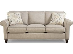 Craftmaster 742100 Transitional Sofa with Sock-Rolled Arms - Becker Furniture World - Sofas
