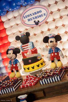 Coisas     de     Erikota: Festa Mickey Marinheiro