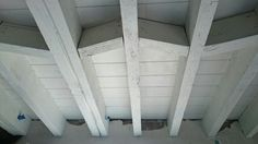 Painted ceiling cuprinol garden shades.  Pale jasmine