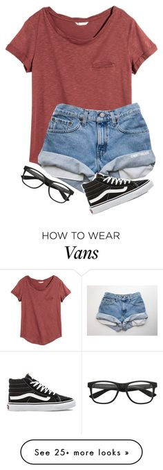 """I got new glasses today! They actually kinda look like the ones in this set "" by one-of-those-nights on Polyvore featuring H&M and Vans"