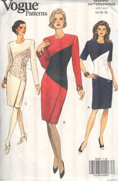 Vogue 8536 Sz 14-18/Bust 36-40. EASY 90s by EXTREMESEWINGDIVA