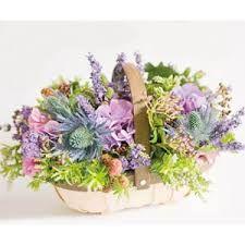 contemporary basket flower arrangement - Google Search