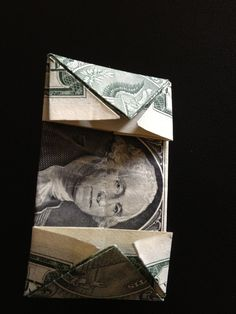How to fold a $1 dollar bill - B+C Guides Fold Dollar Bill, Dollar Bill Origami, Money Origami, Paper Crafts Origami, Folding Money, Three Fold, Thing 1, One Dollar, Two By Two