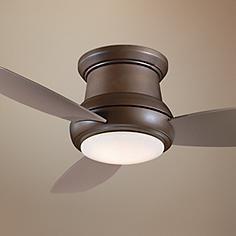 "52"" Minka Aire Concept II Oil Bronze Hugger Ceiling Fan"