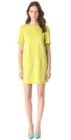 Hard not to love this fab Tibi dress... A simple shift like this will stay in your closet for many many years.