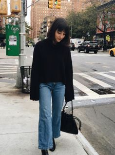 My Favorite Jeans Cost Less Than $80+#refinery29 Wide Jeans, Cropped Wide Leg Jeans, Fall Looks, Bell Bottom Jeans, Topshop, Women Wear, Normcore, Style Inspiration, Female