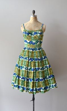 vintage 1950s Chlorophyta dress