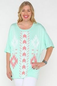 Mint Aztec Piko Top 1x
