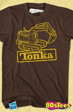 c9d4cdc9bc4 Digger Tonka T-Shirt Officially Licensed Hasbro Geeks  Whether traveling