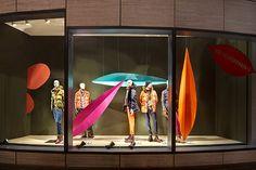 Set Design: Sarah Illenberger creates window displays of giant metal leaves