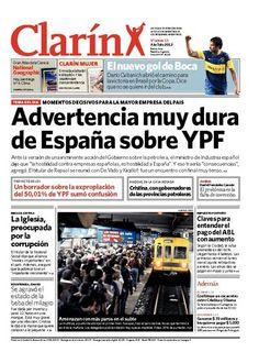 Advertencia muy dura de España sobre YPF. Más información: www.clarin.com