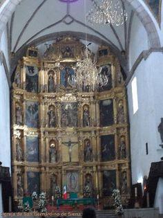 Parroquia de San Bernardino de Siena, altar ; Cidade do México   Foto Cida Werneck