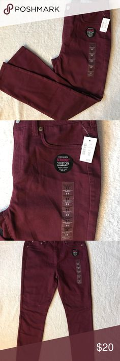 Aeropostale Maroon Jeggings New with tags  High waisted jeggings Aeropostale Pants Skinny