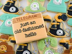 Old Fashioned Telephone Cookies | Cookie Connection