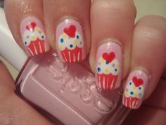 Cupcake nails...found this picture on paint thatnail.com