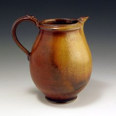 PITCHER Pottery Stoneware Red and Gold White by baumanstoneware, $76.00