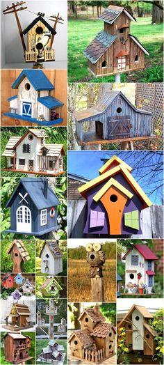 Cute DIY Ideas for Birdhouses