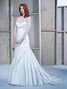 Style BE181 / Ella Rosa Collection / by Ella Rosa / Available Colours : Diamond White/Ivory Silver, Ivory/Ivory Silver, White/White Silver (Shown with Beaded & Crystal embellishments at Neckline & Bust)