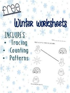 Great tracing, counting, and pattern worksheets for kiddos in ECE, kinder or students with disabilities.
