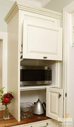microwave placement in kitchen designs | Handy Tips On Where To Put Your Microwave - Impala Kitchens and ...