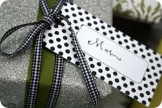 SUCH A CUTE LABEL - ...printable gift tags. LOVE gift tags!