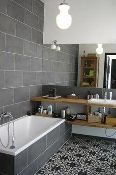 remodel a bathroom is certainly important for your home. Whether you choose the small laundry room or bathroom remodel shiplap, you will create the best serene bathroom for your own life. Bathroom Toilets, Bathroom Renos, Grey Bathrooms, Beautiful Bathrooms, Bathroom Interior, Modern Bathroom, Small Bathroom, Bathroom Ideas, Bathroom Designs