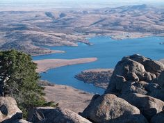 The view from the top of Mount Scott in the Wichita Mountains Wildlife Refuge near Lawton, Oklahoma is breathtaking.