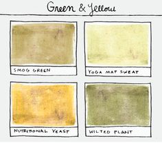 smog green + yoga mat sweat + nutritional yeast + wilted plant