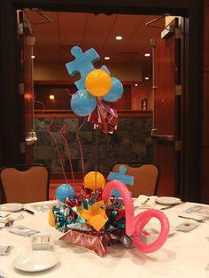 Autism Speaks Balloon Centerpieces