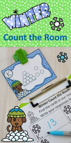 Winter Number Sense Fun for Your Little Learners! $ #winter #wintermath #counting #numbersense #mentalmath #kampkindergarten #mathcenters https://www.teacherspayteachers.com/Product/Winter-Count-the-Room-2977134