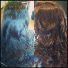 Healthy Hair Is Beautiful Hair..: Before and After. (red auburn haircolor)