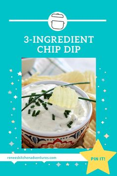 Sour Cream Chip Dip, Sour Cream Potatoes, Creamed Potatoes, Sour Cream And Onion, Easy Chip Dip, Easy Chips, Appetizers For Party, Appetizer Recipes, Dinner Recipes